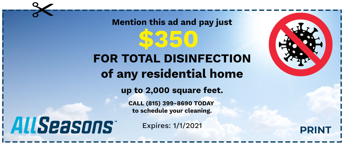 Total disinfection home coupon savings